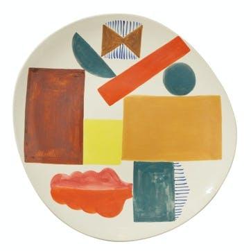 Bow Oval Platter, 38cm, Multi