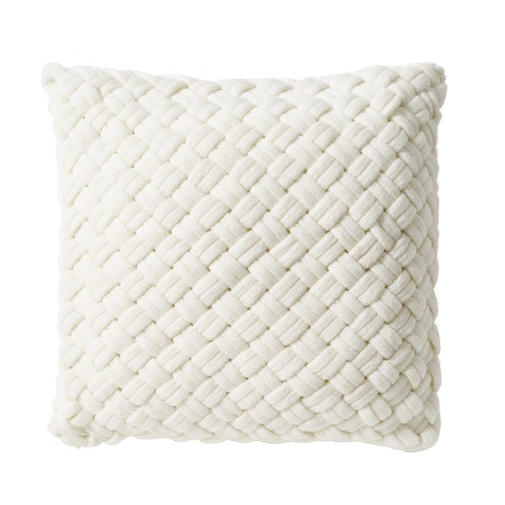 Chunky Knit Cushion, White