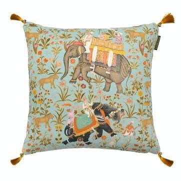 Hindustan Cushion, Aquamarine