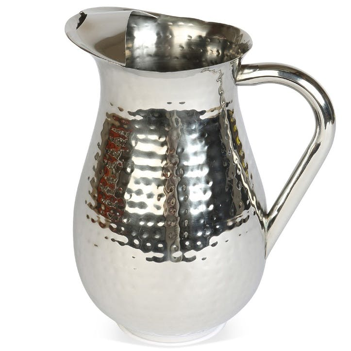 Champagne Hammered Tall Pitcher