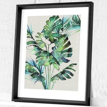 Summer Thornton Monstera Leaves Framed Print, 55 x 45cm