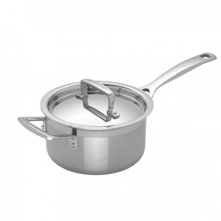 3-Ply Stainless Steel Saucepan - 18cm
