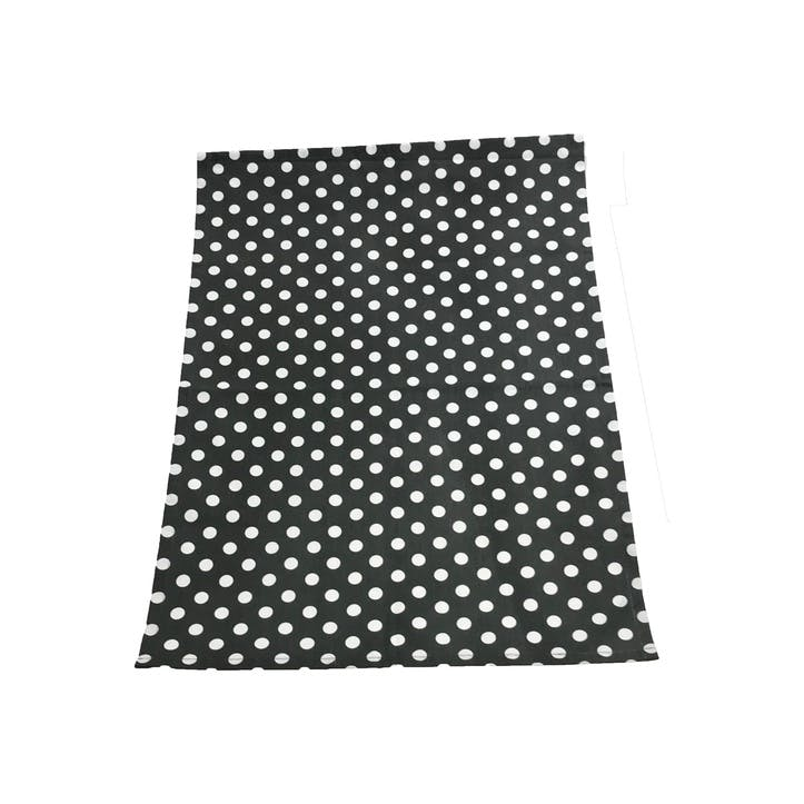 Polka Dot Tea Towel, Slate Grey