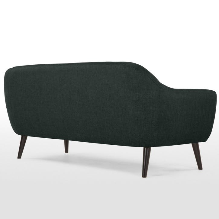 Ritchie Sofa - 3 Seater; Anthracite Grey/ Rainbow Buttons