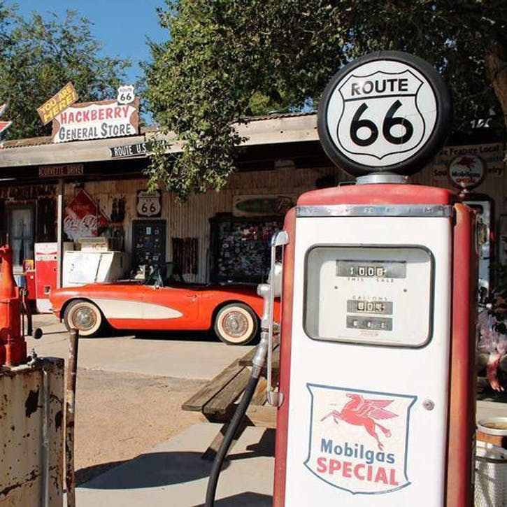 Honeymoon on Route 66 Tank of Fuel