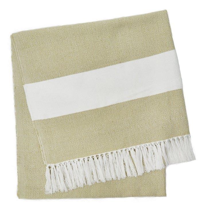 Hammam Blanket, 2 x 1m, Gooseberry