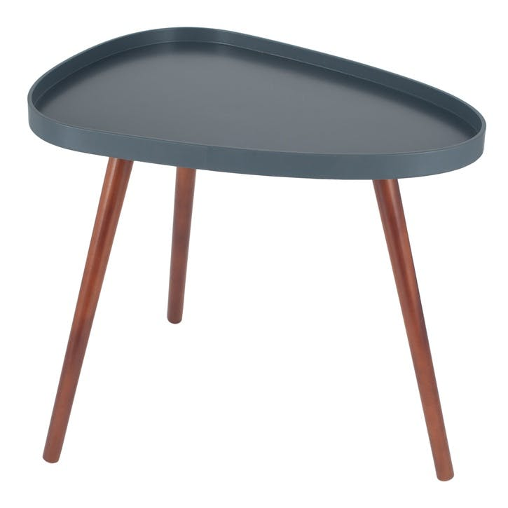 Halston Teardrop Side Table, Slate