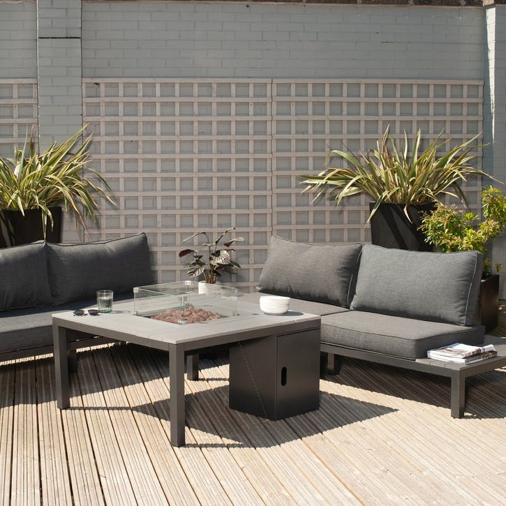 Kobe Seating Set with Fire Table, Anthracite
