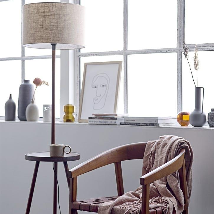 Brown Ash Floor Lamp