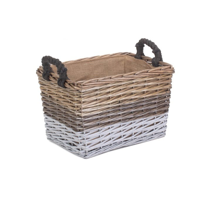 Large Rectangular Triple Tone Chunky Storage Basket