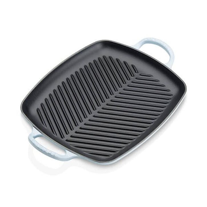 Cast Iron Rectangular Grill - 30cm; Coastal Blue