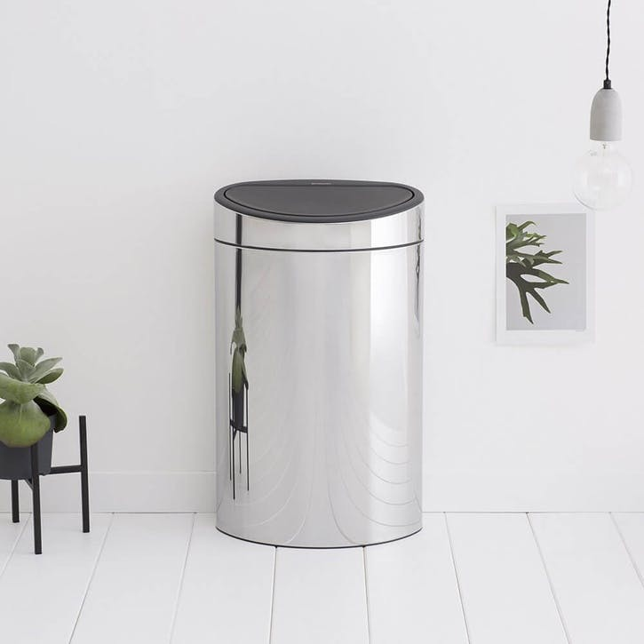 Touch Bin, 40L, Brilliant Steel