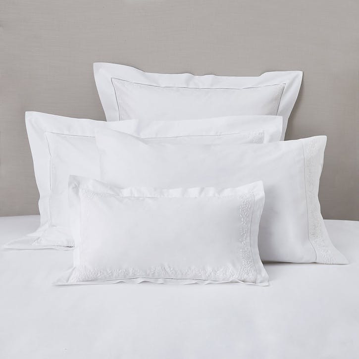Adeline Oxford Pillowcase, Standard, White