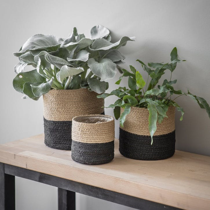 Jute Pots, Set of 3