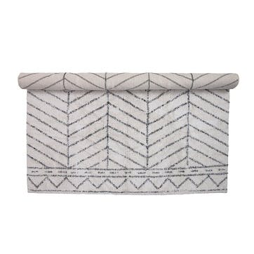Oslo Rug, White/Grey