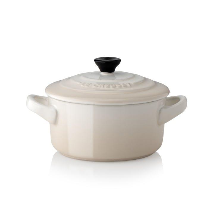 Stoneware Petite Round Casserole, Meringue