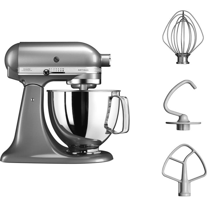 Artisan Stand Mixer with FREE Glass Mixing Bowl, 4.8L, Contour Silver