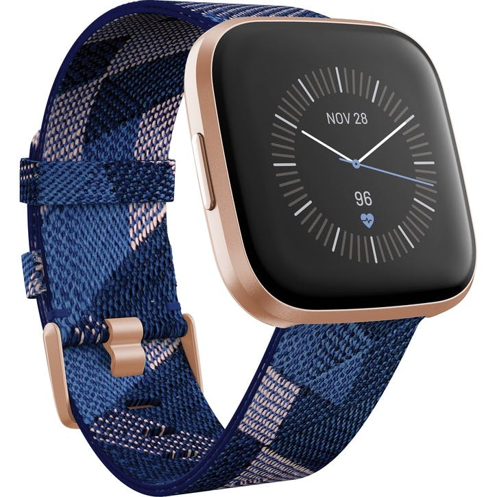 Versa 2 SE Smart Watch, Navy & Pink Woven