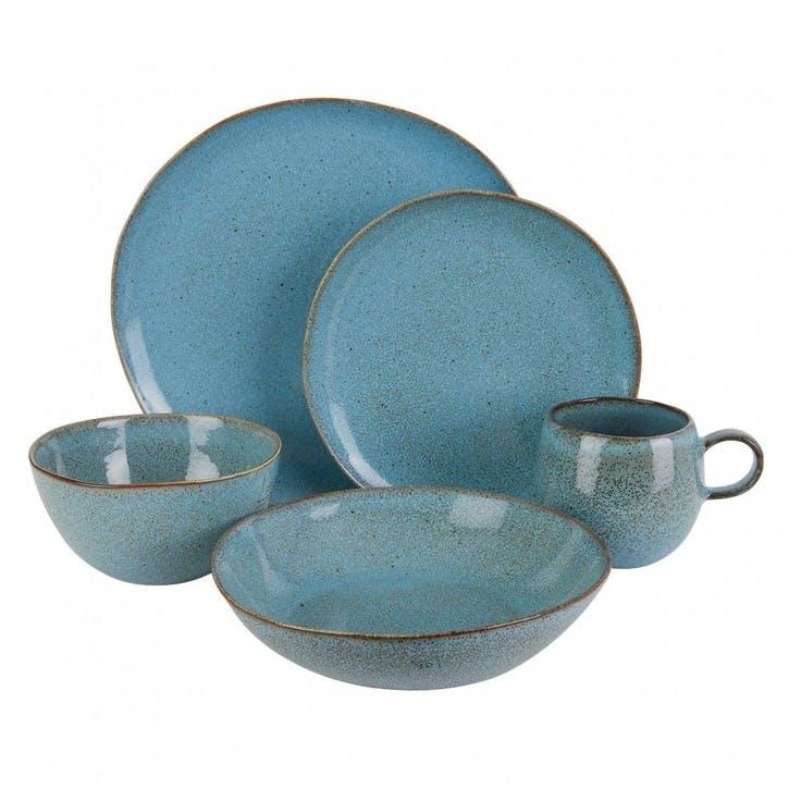 Olmo 20 Piece Dinnerware Set, Turquoise