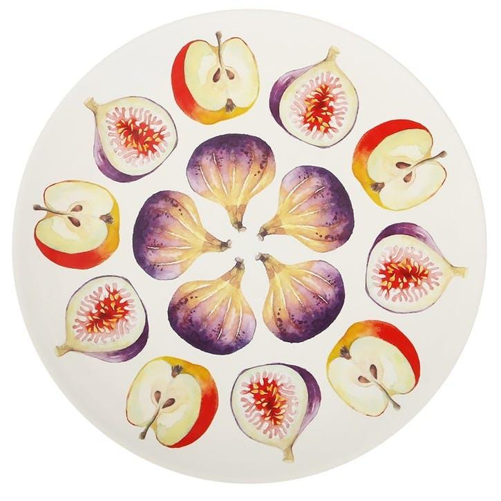Cremona Cheese & Fruit Platter, 34cm, Purple