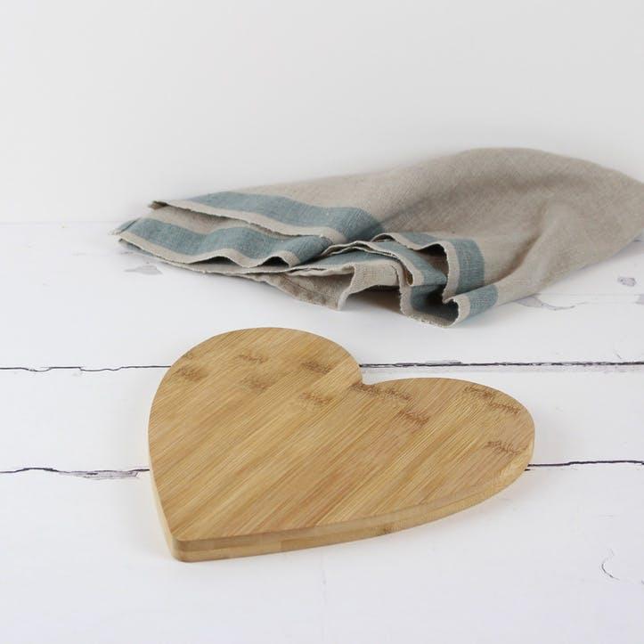 Heart Shaped Bamboo Board