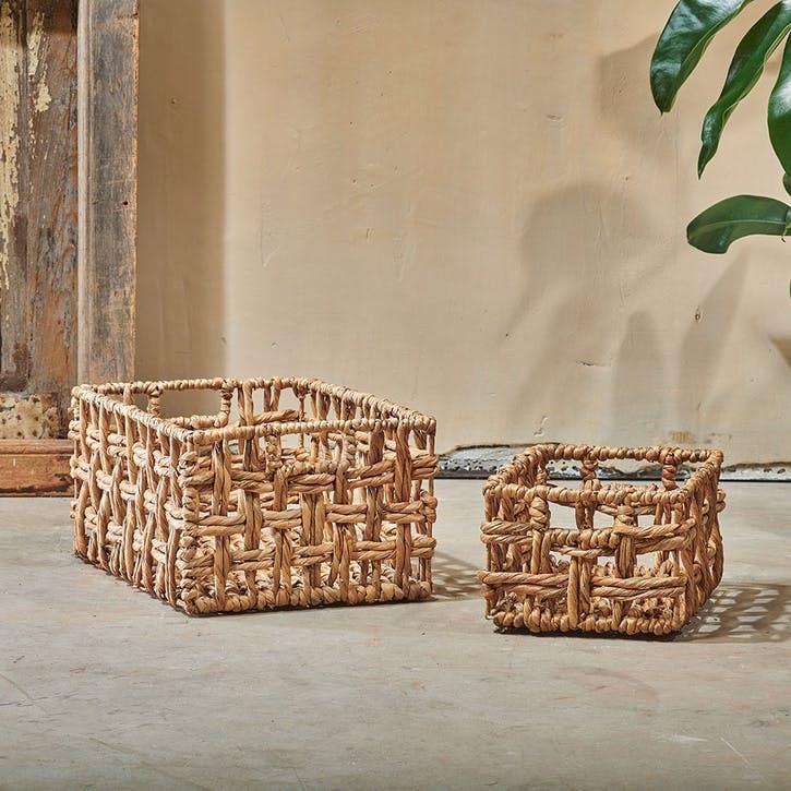 Kora, Rectangular Storage Basket, Large, Natural