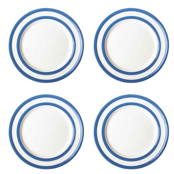 Cornish Blue Side Plates, Set of 4