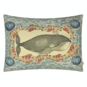John Derian Blue Coral Delft Cushion