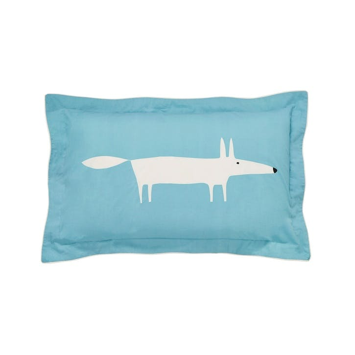 Mr Fox Oxford Pillowcase, Teal