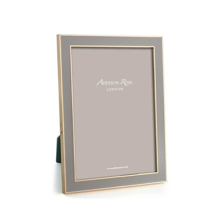 "15mm Gold and Enamel Photo Frame - 5"" x 7""; Taupe"