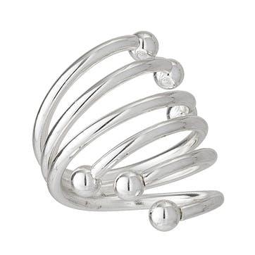 Swirl Napkin Rings, Set of 4, Silver