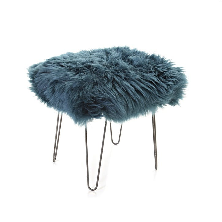 Baa Stool Ffion, 50cm x 40cm x 45cm, Teal