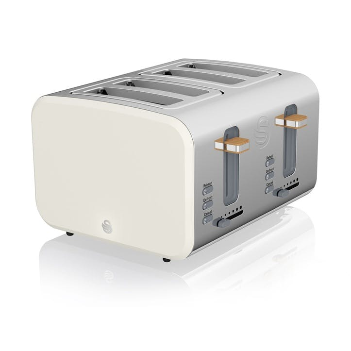 Nordic 4-Slice Toaster, Cotton White