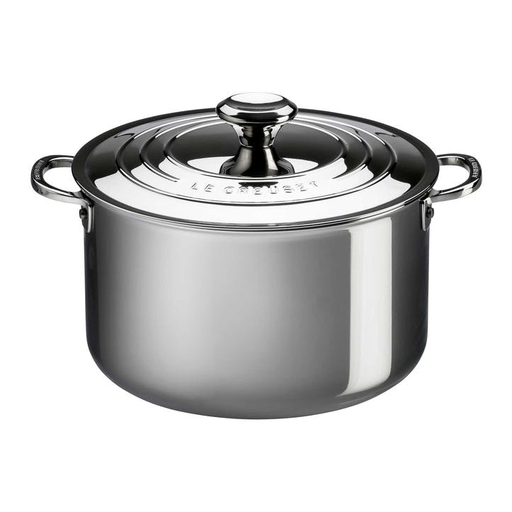 Signature Stainless Steel Stockpot with Lid - 24cm