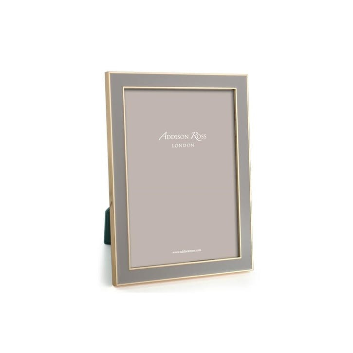 """15mm Gold and Enamel Photo Frame - 4"""" x 6""""; Taupe"""