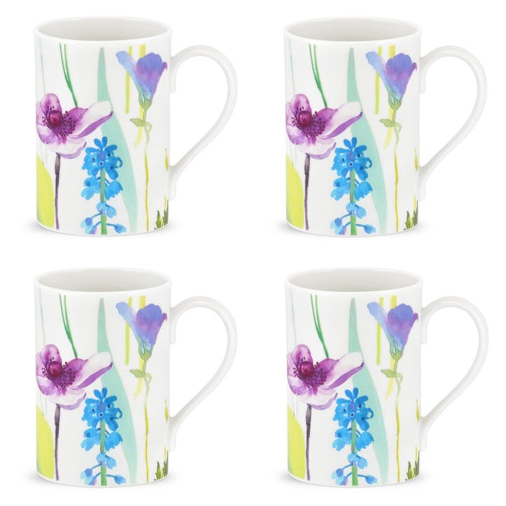 Water Garden Mugs, Set of 4