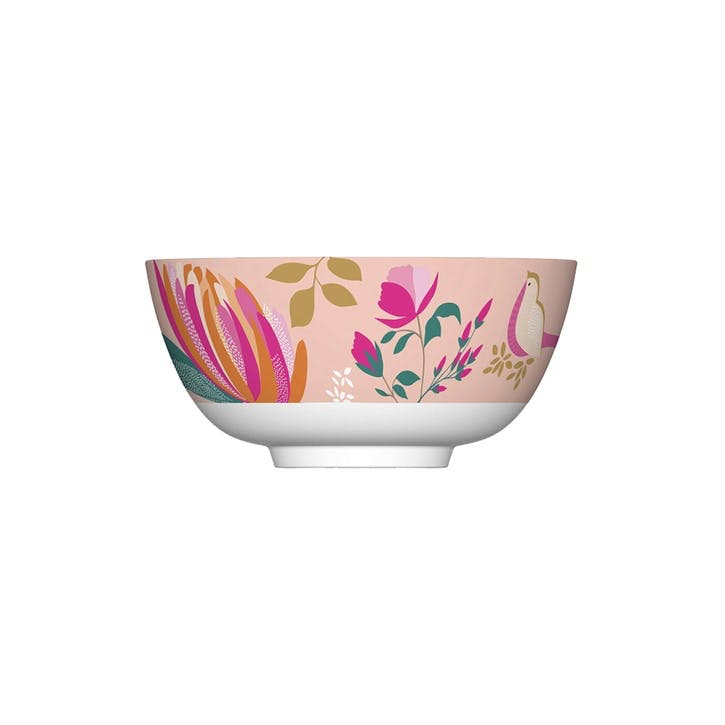 Peony Collection Melamine Bowls, Set of 4