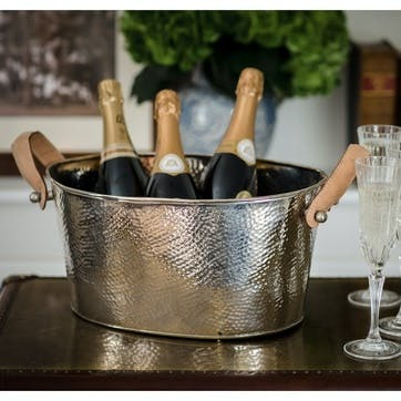 Leather Handled Champagne Bath - Small