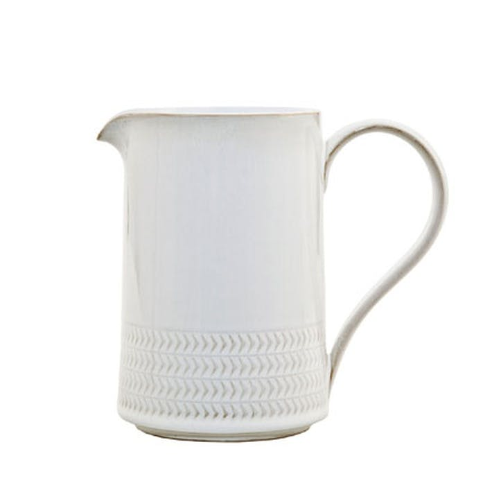 Natural Canvas Textured Medium Jug, 570ml, Cream
