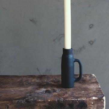Tapered Candle Holder, Matte Black