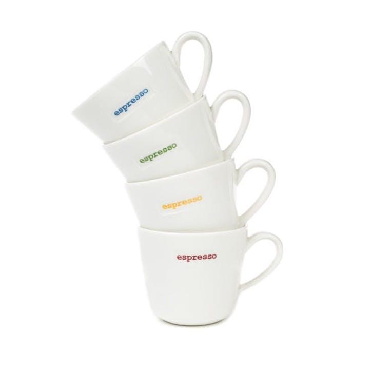'Espresso' Set of 4 Espresso Cups, 100ml