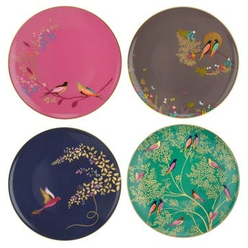 Chelsea Collection Cake Plates, Set of 4