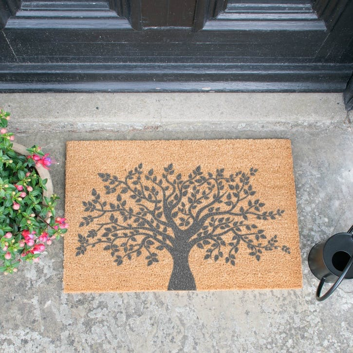 Tree of Life Doormat, Grey