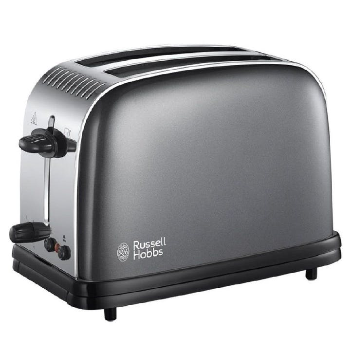 Colours Plus 2 Slice Toaster; Grey