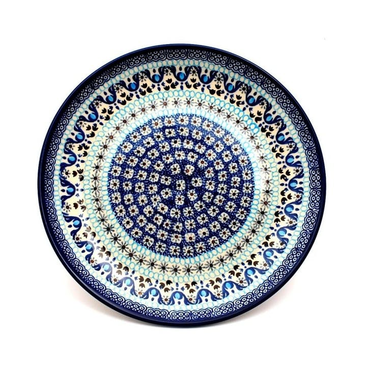 Spring Flowers Dinner Plate, 25cm, Blue