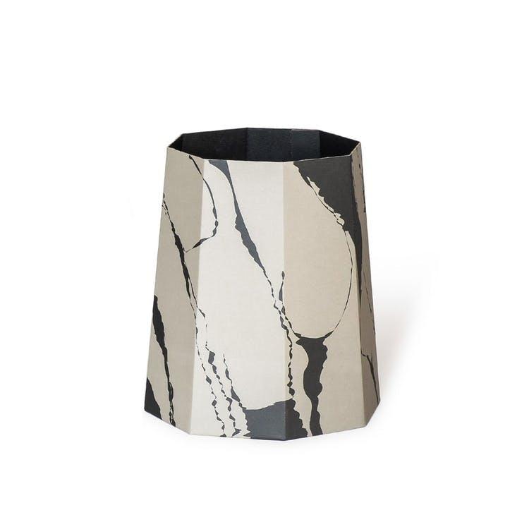 Chimney, Paperbin, H35 x D32cm, Black/Grey