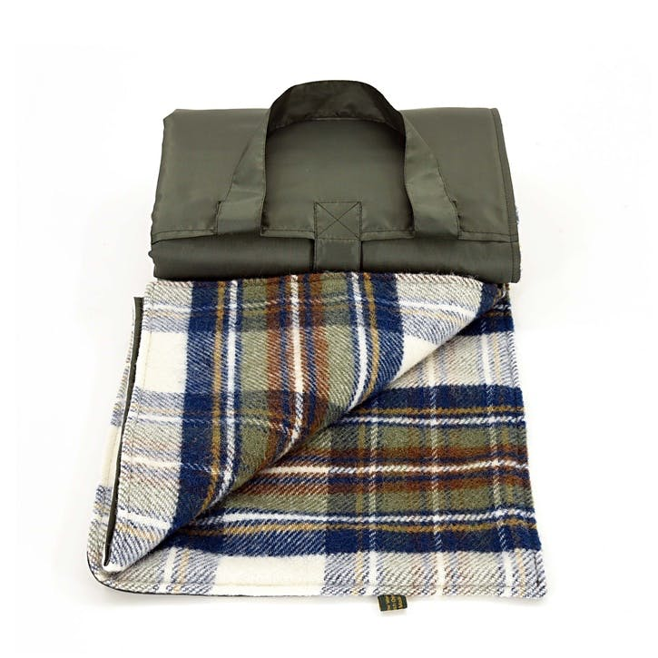 Eventer Picnic Rug - Large; Muted Blue Dress Stewart