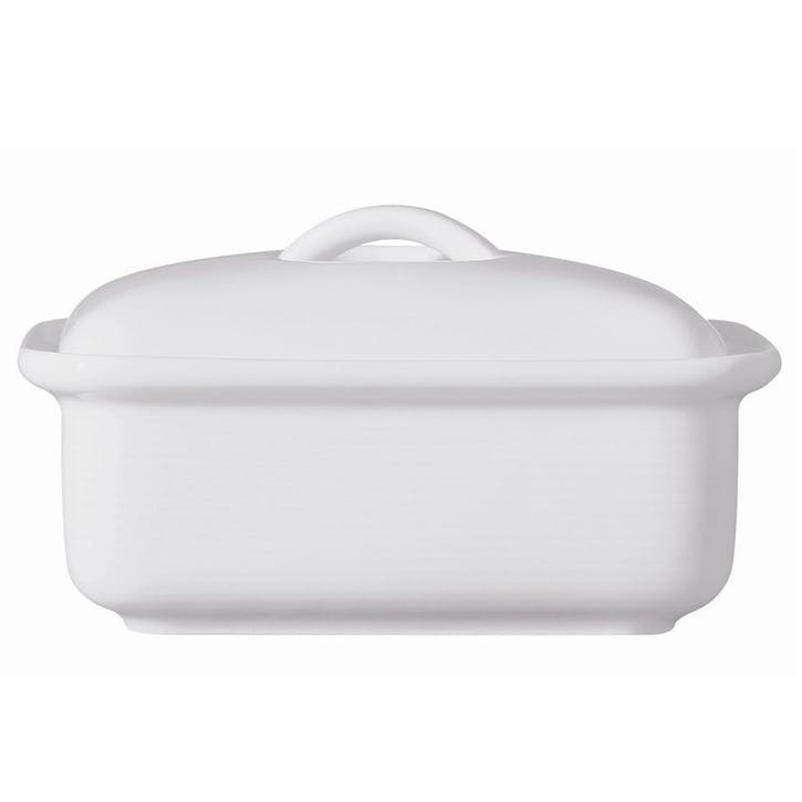 Trend, Butter Dish With Lid, White