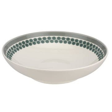 """Westerly Low Bowl, Serving - 12.75""""; Grey Band"""