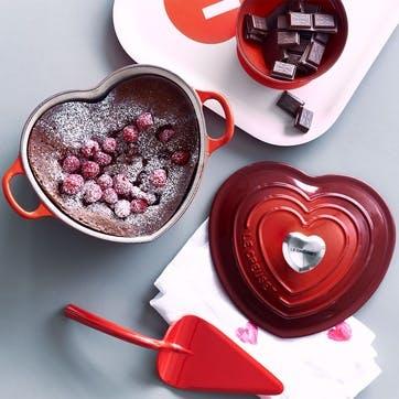 Heart Casserole With Ss Heart Knob, Cerise